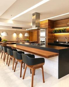 Modern Kitchen Design – Want to refurbish or redo your kitchen? As part of a modern kitchen renovation or remodeling, know that there are a . Kitchen Room Design, Kitchen Sets, Modern Kitchen Design, Kitchen Colors, Home Decor Kitchen, Interior Design Kitchen, Kitchen Dining, Modern Bar, Dining Area