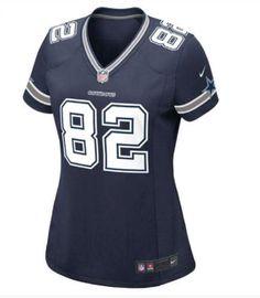 Women Nike Dallas Cowboys #82 Jason Witten Blue Nike NFL Jerseys