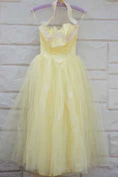 Vintage Prom Dress 50s Bubble Full Skirt Sun /& Moon Organza Tulle Formal Wedding Party Train Wrap Scarf 2 XS