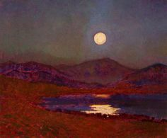 Cregennan Lake by Moonlight    Christopher Williams (1873–1934)