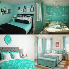 This is a really pretty color & perfect to decorate a teen room🦋 Teenage Girl Bedroom Decor, Girl Bedroom Designs, Teen Room Decor, Girl Bedrooms, Teal Teen Bedrooms, Bedroom Ideas, Small Room Bedroom, Bedroom Colors, Home Bedroom