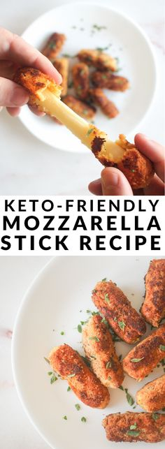 Keto-Friendly Mozzarella Sticks : Craving comfort food on the keto diet? Try these keto-friendly fried mozzarella sticks! Craving comfort food on the keto diet? Try these keto-friendly fried mozzarella sticks! Recipes For Beginners, Great Recipes, Keto Recipes, Dinner Recipes, Breakfast Recipes, Vegetarian Recipes, Keto Diet For Beginners, Dessert Recipes, Healthy Recipes