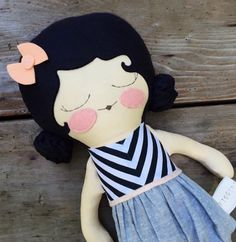 lulu 18 cloth doll customizable rag doll black by piggyhatespanda