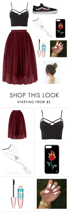 """Untitled #48"" by lemonitadr on Polyvore featuring Vans, Charlotte Russe, Maybelline and plus size clothing"