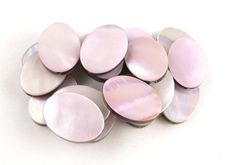 Pink Mother of Pearl // Double Sided Bead // by CastoGemstones, $9.00