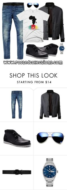 """""""rooted collections - OOTD #20"""" by rootedcollections on Polyvore featuring Scotch & Soda, LE3NO, ZeroUV, Gucci, TAG Heuer, men's fashion and menswear"""