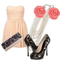 Perfect! Was looking for something like that to go with my light pink dress which is exact the same.