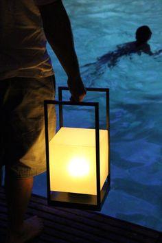 The Union Sq. LED Portable Lantern design by Stefan Gulassa for Phoenix Day Led Fixtures, Contemporary Furniture, Lanterns, Table Lamp, Lights, Phoenix, Unique, Exterior, Design