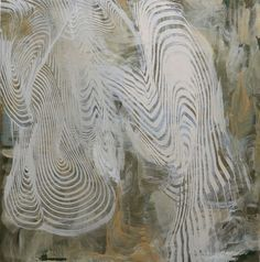 Lorene Anderson - Pivotal Tracker, 2014, acrylic & mica on canvas, 48 x 48 inches