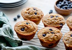 Healthy Recipes Nytimes Meatballs - julia moskin makes whole grain blueberry muffins with a crunchy orange streusel top.creditcreditrikki snyder for the new york times Healthy Muffin Recipes, Healthy Muffins, Healthy Fats, Healthy Sweets, Yummy Recipes, Healthy Snacks, Baking Set, Blue Berry Muffins, The Fresh