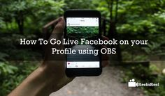 How To Go Live Facebook on your Profile using OBS. It is the best opportunity to live engagement with your audience on social media. Video Advertising, Marketing And Advertising, Social Media Marketing, Industry Research, Seo News, Poster Boys, Marketing Articles, Facebook Video, New Market