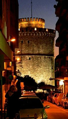 Thessaloniki,Greece - one remaining jewel Byzantium, and one of the most underrated cities of Europe - it is a treasure trove of Byzantine architecture and a whole lot more - fun and friendly as well Places Around The World, Travel Around The World, Around The Worlds, Santorini, Byzantine Architecture, Greek Beauty, Greek Isles, Paros, Night Life
