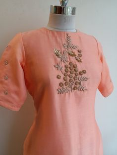 Colors & Crafts Boutique™ offers unique apparel and jewelry to women who value versatility, style and comfort. We specialize in customized attires Salwar Suit Neck Designs, Kurta Neck Design, Neck Designs For Suits, Dress Neck Designs, Kurta Designs, Blouse Designs, Embroidery Suits Punjabi, Embroidery On Kurtis, Kurti Embroidery Design