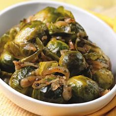Thyme-Braised Brussels Sprouts - tried these tonight and they were scrumptious! When the sprouts were done, I removed them from the pan and added a little butter while reducing the liquid to make a sauce.
