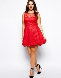 vestidos para gorditas en rojo