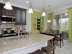 Kitchen Model Homes the valencia ii model kitchen viewdream finders homes of the