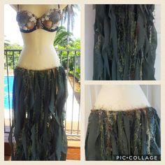 Mermaid Skirt Made to Order Mermaid Seaweed Look Skirt