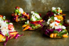 Shrimp Ceviche Tostadas – The Pioneer Woman Shrimp Ceviche, Mini Sweet Peppers, Stuffed Sweet Peppers, Tostadas, Smashed Avocado, Mexican Food Recipes, Ethnic Recipes, Mexican Desserts, Drink Recipes