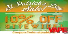MadVapes St Patricks Day Sale | VAPE DEALS Electronic Cigarette, St Patricks Day, Vape, Neon Signs, How To Get, Smoke, Vaping Mods, Electronic Cigarettes