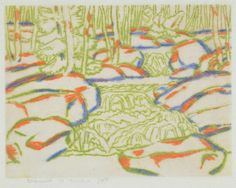 David Brown Milne Canadian, 1882–1953 Waterfall, 1930 drypoint on paper, 1/50 26 x 27.8 cm