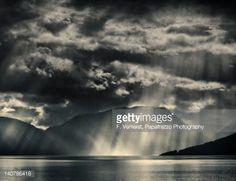 Stock Photo : Sunshower at Sognefjord