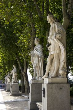 Statues of the Gothic kings in the Plaza de Oriente (Orient Square) Madrid, Spain