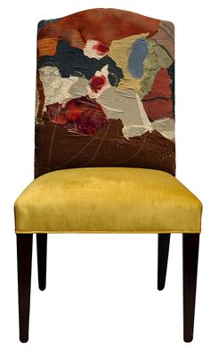 Patchwork Upholstery Fabric  Dining Chair  by Sara by spladesigns, $1150.00