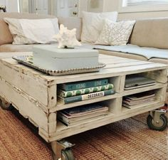 White Chic Pallet Coffee Table