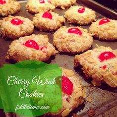 Cherry Winks {Cookie Recipe}