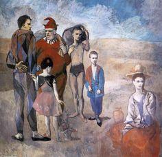 """PICASSO ROSA-""""Familia de acróbatas (malabaristas)"""", 1905 de Pablo Picasso (1881-1973, Spain)"""