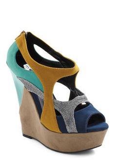 Aquarium Fantasy Wedge, #ModCloth