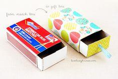 Fabulous Handmade Gift Box from a matchstick box!!