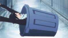 Yato and the bucket - gif - Noragami Anime In, Anime Kawaii, Anime Shows, Anime Guys, Manga Anime, Yatogami Noragami, Anime Noragami, Yato And Hiyori, Haikyuu