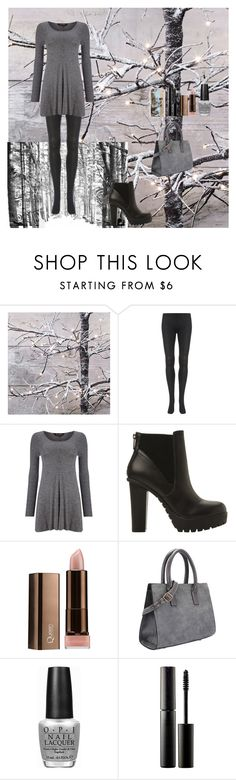 """Waiting For Christmas"" by oksana-kolesnyk ❤ liked on Polyvore featuring Behance, Phase Eight, Steve Madden, COVERGIRL, OPI, Surratt and Casetify"