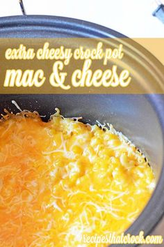 Extra Cheesy Crock Pot Mac and Cheese ~ So good! Perfect for cheese lovers. #CrockPot