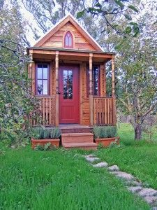 I am simply in love with this cute little homes. A nifty little hideaway or hideout (lol) would be perfect writing space for authors or creative people.