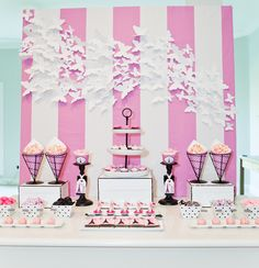 Party Backdrops  baby shower | inspired decor and embellishments were shown throughout the party ...