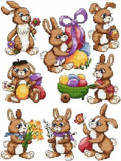 Easter bunny cross stitch