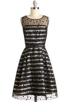 Spotted on the Scene Dress, #ModCloth