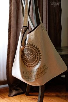 DIY pillowcase messenger bag. Brilliant.