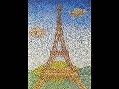 Πουαντιγισμός (Ο Πύργος του Eiffel)- Pointillism Eiffel tower for kids- Painting - YouTube Youtube, Painting, Rook, Pointillism, Painting Art, Paintings, Painted Canvas, Youtubers, Drawings