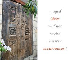 ... aged #ideas will not revise >news< #occurrences !