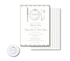 Fine China Rehearsal or Dinner Party Invitation