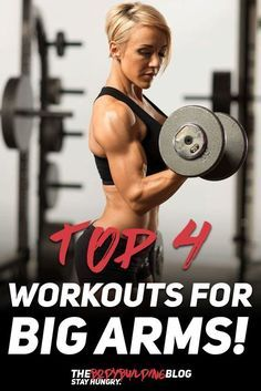 Check out the Top 4 Workout for Big Arms! #fitness #muscle #gym #bodybuilding #exercise #workout