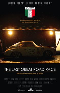 The Last Great Road Race documentary follows Benton Performance 2000 miles across the heart of Mexico during the 2013 La Carrera Panamericana The Last Great Road Race will be premiered on August 15, 2014 at 10:20pm at Golden State Theatre #lastgreatroadrace #beltonperformance #lacarrera #goldenstatetheatre #monterey #automotofest