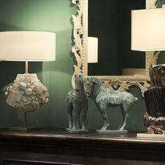 Buon fine settimana a tutti!!!  #celadon #marionisrl #madeinitaly #luxuryliving #concept #mobile #wood #ceramic #ceramica #horses #mirror #table #interiordesign #florence #firenze #italia #craft #ceramics