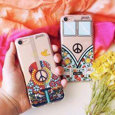 Hippies de plantão essa vai para vocês! {cases: 'violão paz e amor' e lombo azul}  [NA COMPRA DE DUAS GOCASES VOCÊ GANHA 50% OFF NA TERCEIRA]  #gocasebr #instagood #iphonecase #hippie #kombi #danipurper #blcknov #gocaseblack #usogocase