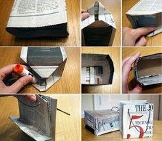 Eine Papiertüte ist leicht und schnell gefaltet