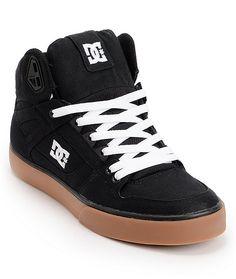 9d6070fb03 DC Spartan Hi TX Black   Gum Skate Shoes