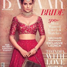 This September, Her Majesty #KanganaRanaut graces the cover of #BazaarBrideIn wearing Heritage Jewelry by Sabyasachi. The woman of many powers - an accomplished actor, an outspoken feminist and a role model to many, gets candid with us on life, love, career and beyond. Editor @nupurmehta18 Photographed by @tarun_khiwal Fashion Editor: @ana_bhatt Fashion Assistant: @shauryaathley Fashion Producer: @amykchanna All clothing @sabyasachiofficial Hair @francovallelonga at Faze Management Mak...